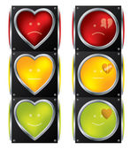 Love traffic lights — Stock Vector