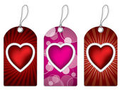 Label design set with hearts — Stock Vector