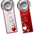 Stock Vector: Valentine day door hangers