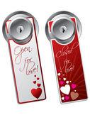 Valentine day door hangers — Stock Vector
