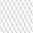 Stock Vector: Vector wire fence