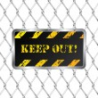 Royalty-Free Stock Vector Image: Warning plate with wired fence