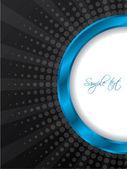 Bursting blue ring brochure design — Stock Vector