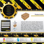 Construction design web template — Stockvector