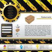Modèle de construction conception web — Vecteur