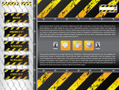 Wire fence website template design — Stock Vector