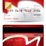 Waving world credit card design — Stock Vector #5015583