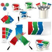 RGB coloring set — Stock Vector