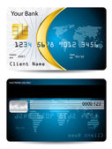 Credit card design with golden shape — Stock Vector