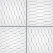 Royalty-Free Stock Vector Image: Various wire fence design set