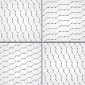 Various wire fence design set — Stock Vector