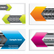 Colorful technology business card set - Stock Vector