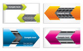 Colorful technology business card set — Stock Vector