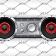 Underground audio deck - Stock Vector