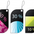 Stock Vector: Discount label set
