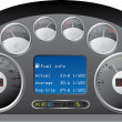 Dashboard of a truck — Stock Vector #5257150