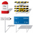 Road sign types — Stock Vector