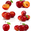 Cherry-plum isolated on white background — Stock Photo #3928935