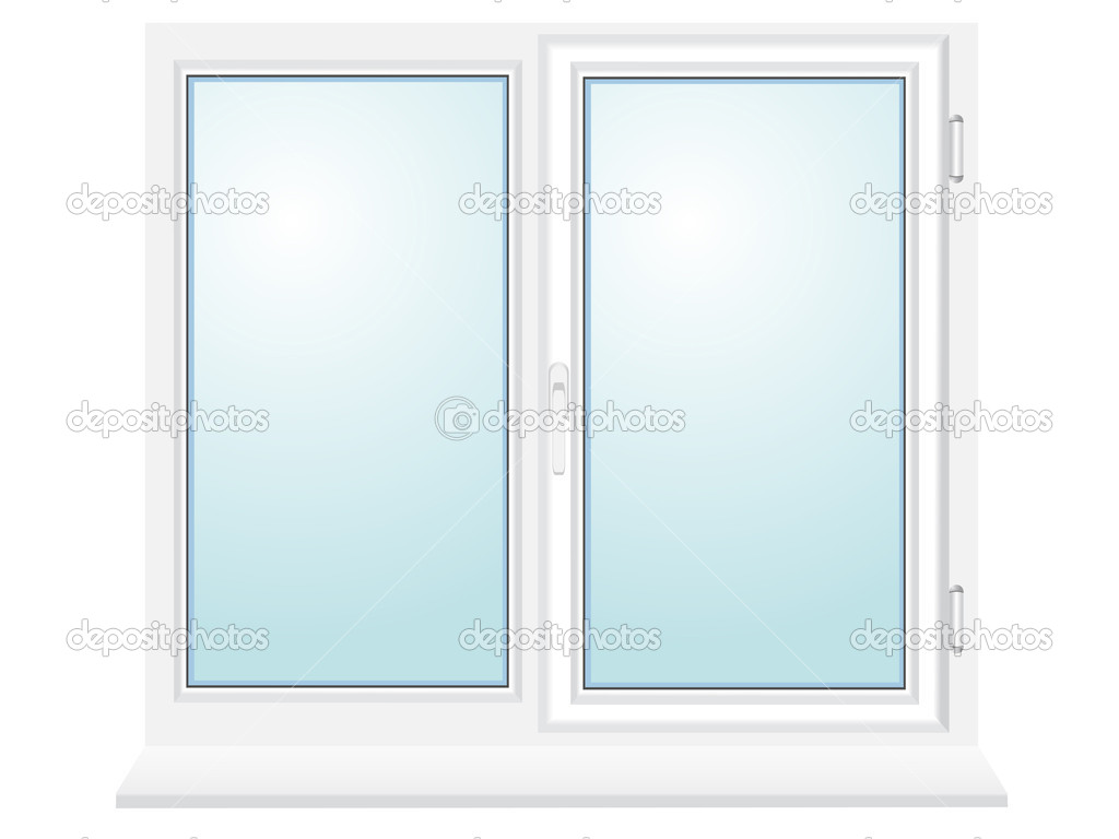 Closed plastic glass window vector illustration stock for 2 pane window