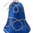Stock Photo: Blue handbell decoration for new-year tree