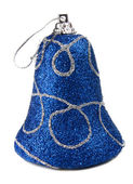 Blue handbell decoration for a new-year tree — Stock Photo