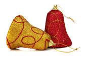 Dzwonek ręczny ozdoba drzewa sylwestrowe — Zdjęcie stockowe