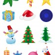 Christmas and new year icons vector illustration — Stock Vector