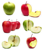 Apple red and green — Stock Photo