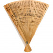 Wooden oriental fan — Stock Photo