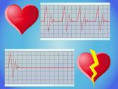Pulso cardíaco — Vector de stock