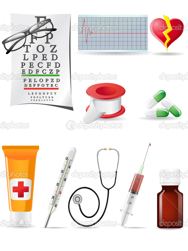 Icon medical set vector illustration — Stock Vector #4633696