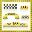 Stock Vector: Icons are symbols of taxi