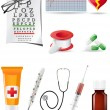 Stock Photo: Icon medical set