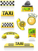 Icons are symbols of taxi — Stock Photo