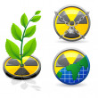 Sign is a radiation and ecology vector illustration — Stock Vector