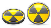An emblem is a sign of radiation vector illustration — Stock Vector