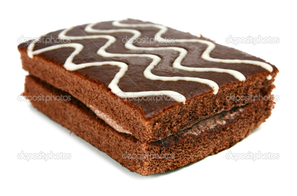 Chocolate pastry with cream — Stock Photo © kontur-vid #4949010