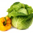 Cabbage and yellow pepper - Stock Photo