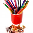 Royalty-Free Stock Photo: Crayons coloured pencils