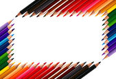 Moldura feita de lápis de cor lápis de cor — Foto Stock