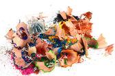 для бритья с расп цветные карандаши — Стоковое фото