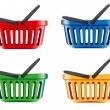 Vector de stock : Coloured shopping basket