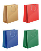 Colorate shopping bag — Vettoriale Stock
