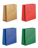 Färgade shopping väska — Stockvektor