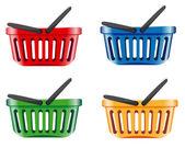 Coloured shopping basket — Stock Vector