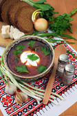 Ukrainian borsch — Stock Photo