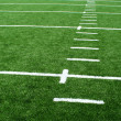 Astro turf football field - Stock Photo