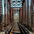 Old railroad bridge - Stock Photo