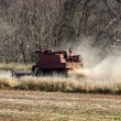 Farm combine tractor - Stock Photo