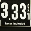High Gas prices signs — Stock Photo